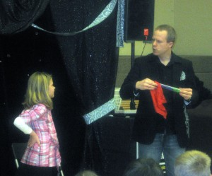 Pennsylania Magician Eddy Ray With Audience Helpers